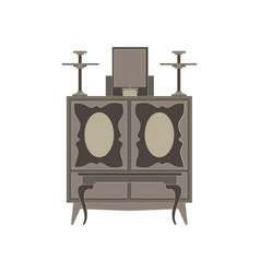 Altar flat icon isolated front view black vector
