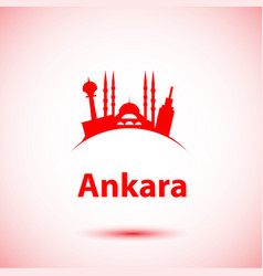 ankara turkey detailed silhouette vector image
