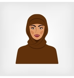 Arab woman in traditional clothes vector