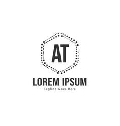 At letter logo design creative modern at letters vector