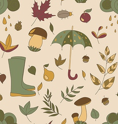 Autumn pattern Seamless texture with autumn vector image