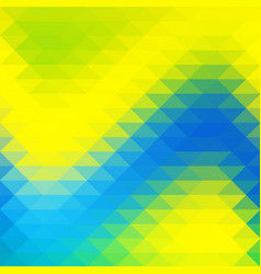 background in yellow blue green triangles shapes vector image