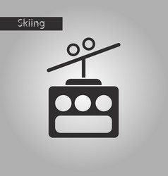 black and white style icon cabin ski lift vector image