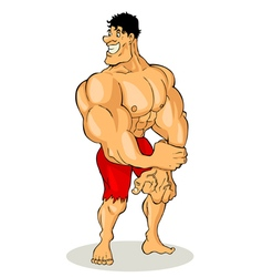 Bodybuilder Cartoon vector