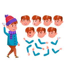 boy child kid teen active cute cheer vector image