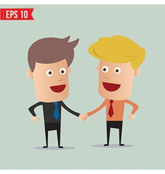 Business man hand shake - - EPS10 vector image