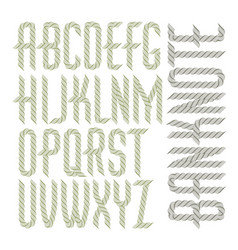 capital condensed alphabet letters collection vector image