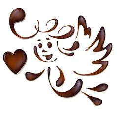 Chocolate angel vector