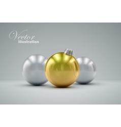 Christmas balls Happy New Year vector