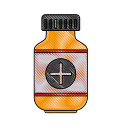 Color blurred stripe of remedy bottle with tap and vector