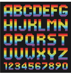 Colorful Alphabet Set vector