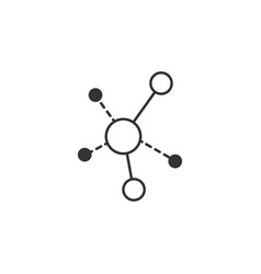 connections graph line icon simple modern flat vector image