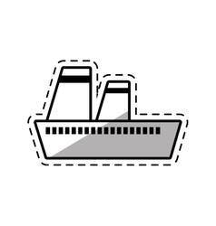 cruise ship travel maritime shadow vector image