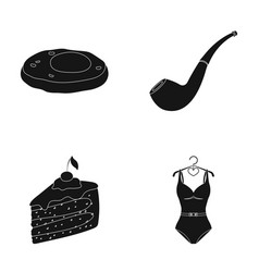 Culinary detective and other web icon in black vector