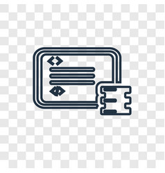 data concept linear icon isolated on transparent vector image