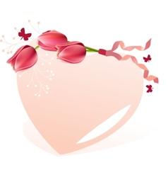 Delicate heart-shaped frame vector