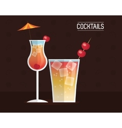 drink menu cocktail restaurant bar design vector image