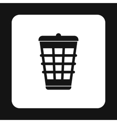 Dustbin for garbage icon simple style vector