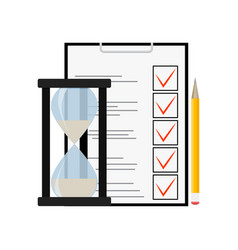 exam and test vector image