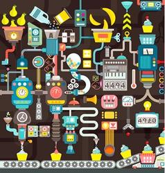 Factory seamless geometric infographics vector