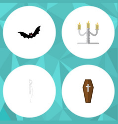 Flat icon festival set of candlestick vector