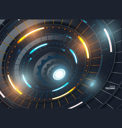 futuristic abstract template with innovative vector image