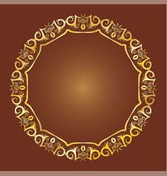 gold antique frame vector image