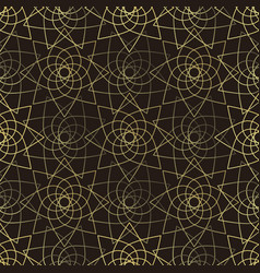 golden lotus seamless pattern vector image