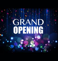 Grand opening event design confetti vector