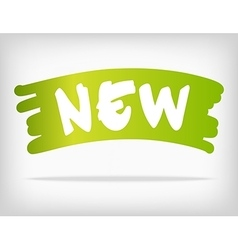 Green brush style stain with new product vector