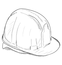 Hand-drawn constructions helmet icon EPS8 vector image