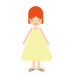 Happy beautiful girl with dress vector
