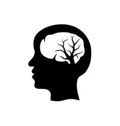 Head brain tree nervous system logo icon symbol vector
