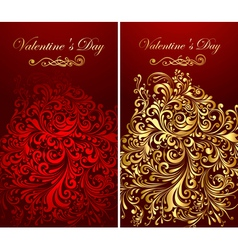 Holiday banners with gold patterns vector