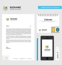 internet browsing business letterhead calendar vector image