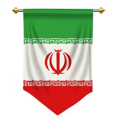 Iran pennant vector