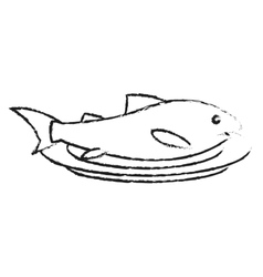 Isolated fish food design vector