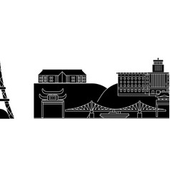 japan yokohama architecture city skyline vector image