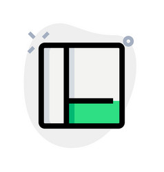 Left grid bar with content section tile vector