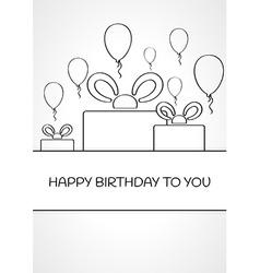 Linear birthday card vector
