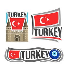 logo for turkey vector image