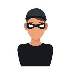 Man hacker guy portrait thief technology vector