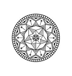 mandala lotus logo design vector image