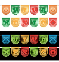 mexican bunting banners vector image