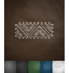 Mexican pattern icon Hand drawn vector