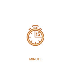 Minute concept 2 colored icon simple line element vector