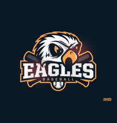 Modern professional emblem eagles for baseball vector