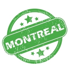 Montreal green stamp vector