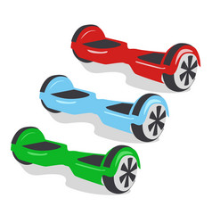 Multicolored gyroscopes personal eco transport vector