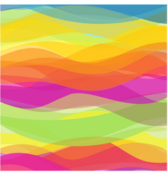 Multicolored waves abstract design background vector